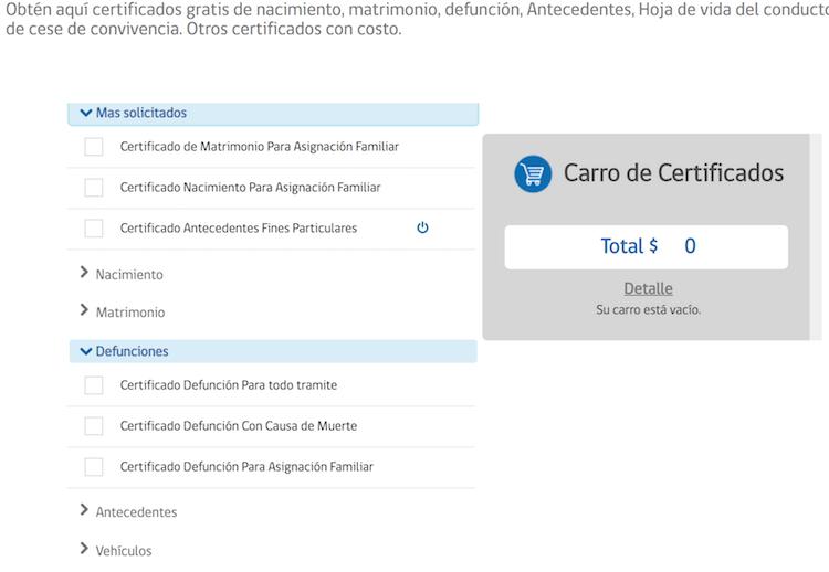 certificado de defuncion chile