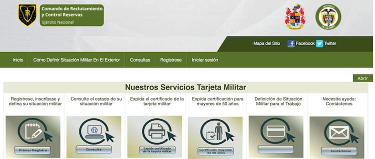 certificado de tarjeta militar colombia