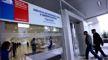 oficinas registro civil chile