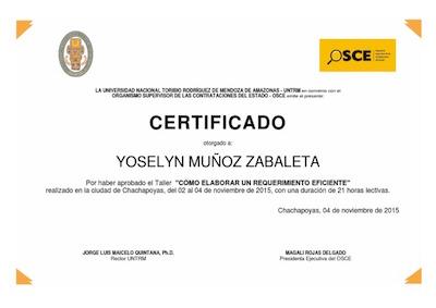 certificado osce peru