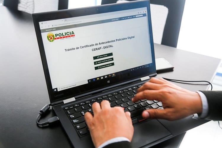 Certificado de Antecedentes Policiales en Perú