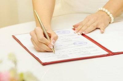 Número de acta de matrimonio