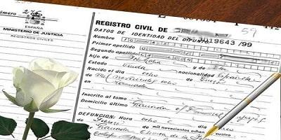 solicitar el Certificado de Defunción